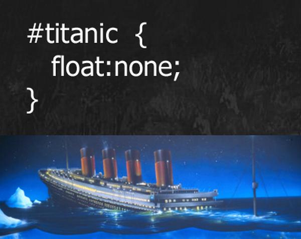 #titanic { float:none }