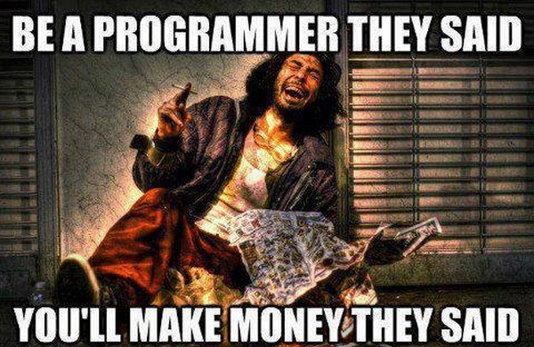 Be a programmer they said, you'll make money the said