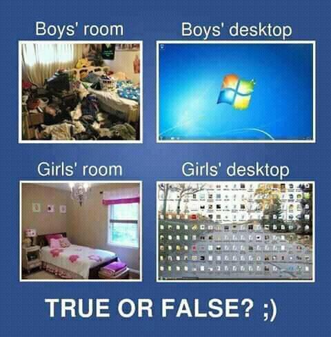Boy's room, Boy's Desktop vs Girl's room, Girl's Desktop