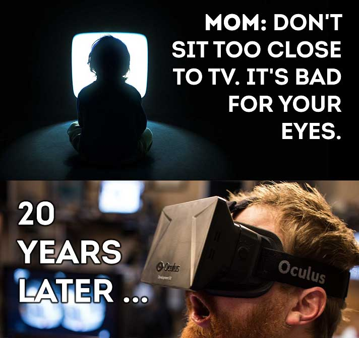 Don't sit too close to TV – past and present…